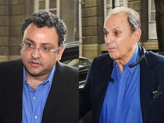 Cyrus Mistry, left, and Nusli Wadia will contest the proposal to remove them from the board of Tata Motors at an extraordinary general meeting.