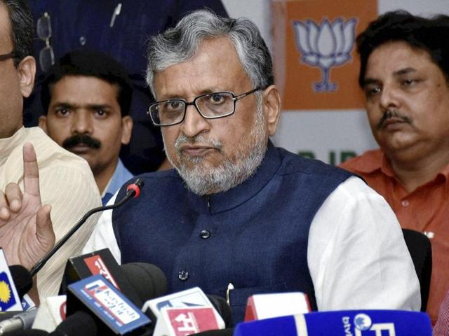 """BJP's Sushil Kumar Modi said, """"BJP provides every details of its spending to the income tax; any purchase of land is through cheque/RTGS, not cash."""""""
