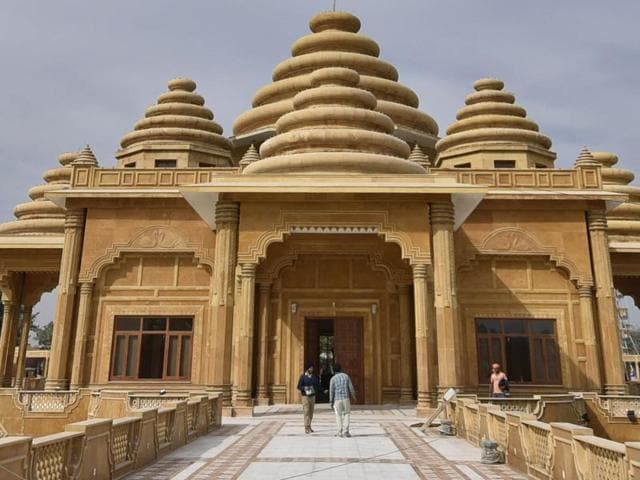 The newly-renovated Ram Tirath temple in Amritsar.