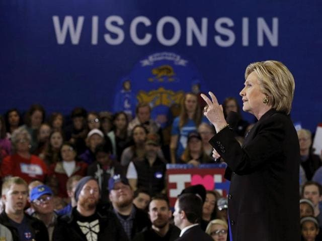 US Democratic presidential candidate Hillary Clinton speaks at a campaign event in Milwaukee, Wisconsin, United States on March 28, 2016.