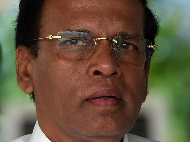 """Sri Lankan President Maithripala Sirisena's office has sent a """"special message"""" to  Donald Trump seeking US intervention at the council, where the island nation faces censure for wartime atrocities."""