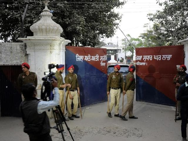 A view of the maximum-security Nabha jail from where six inmates including two terrorists escaped on Sunday, November 27, 2016.