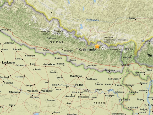 The epicentre was located at Solukhumbu district near the Mount Everest region, around 150 km east of Kathmandu.