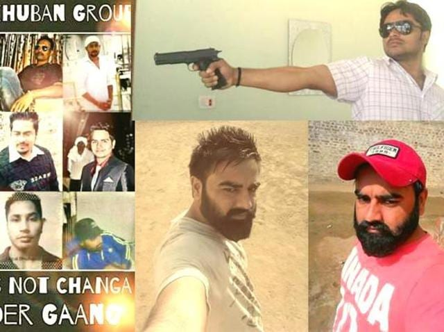 The Facebook cover picture of 'Shera Khuban Grp', a group created by sympathisers of Gurshahid Singh alias Shera Khuban, a Ferozepur-based gangster who was gunned down by police in 2012.