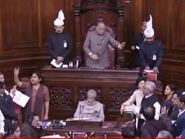 The Opposition protested in the Well of the Upper House against the government's demonetisation of Rs 500 and Rs 1000 notes. The winter session of the Parliament has seen little work so far.