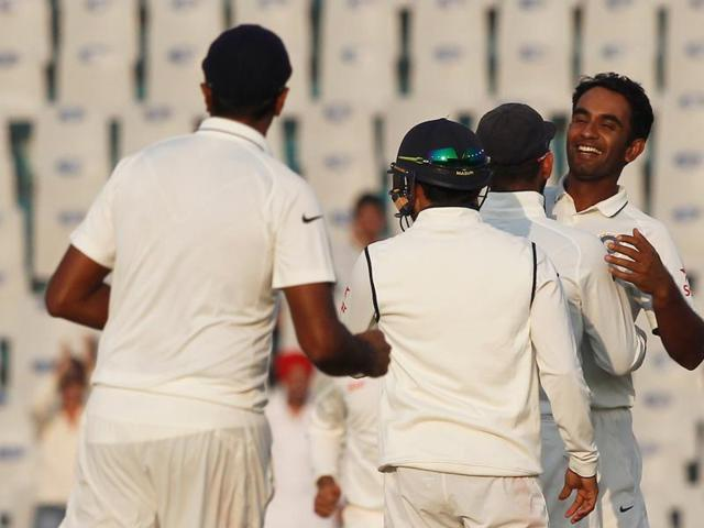 Jayant Yadav complimented Ravichandran Ashwin as he picked up  a wicket later in the day.