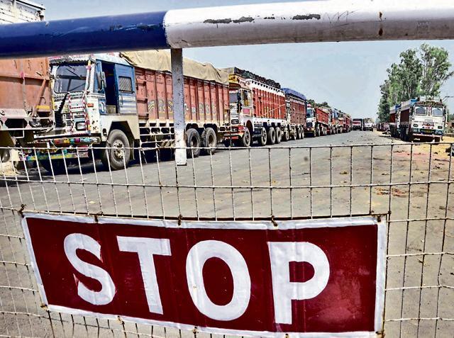 Integrated check post at Indo-Pak Border in Attari, Amritsar.
