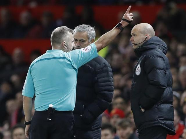 Jose Mourinho's crime was simple petulance, booting a bottle down the touchline in the 27th minute after what he felt was an unjust booking for Paul Pogba.