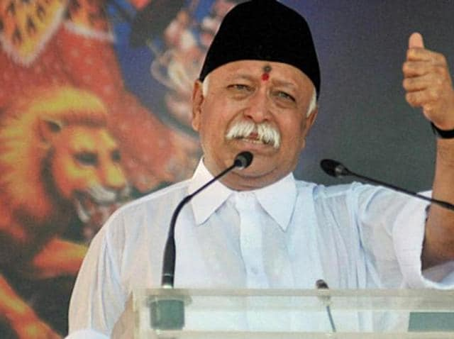 File photo of RSS chief Mohan Bhagwat.(PTI)