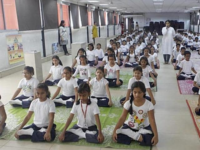Representative photo. State-run schools in Madhya Pradesh will have a period dedicated to yoga from next  academic year to curb rising incidences of student suicides.