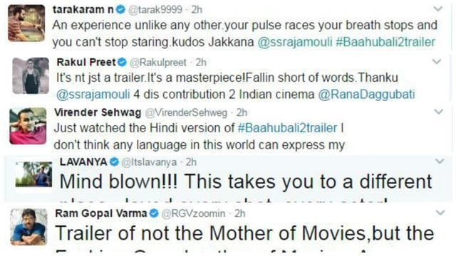 Here's How Bollywood Is Reacting To SS Rajamouli's Baahubali 2 Trailer!