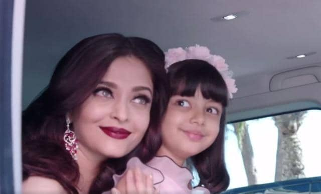 WATCH: Aishwarya Rai Bachchan Cuddling And Kissing Aaradhya Moments Before Walking The Cannes Red Carpet!