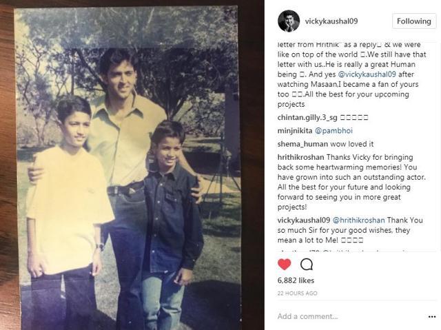 Vicky Kaushal Shares Throwback Pic With Hrithik Roshan