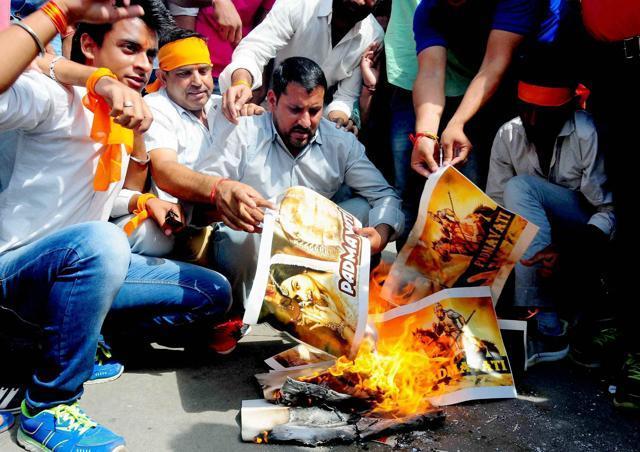 Protests On Padmavati Have Begun; Posters Burnt