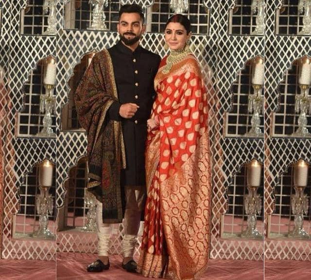 Anushka Sharma's red reception sari vs her pink wedding ...