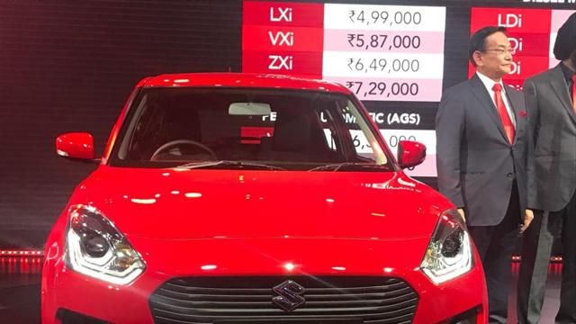 Maruti Suzuki India, India's top-selling car maker, launched the new Swift with prices starting at Rs 4.99 lakh.