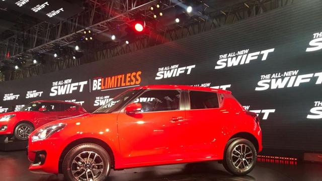 The new Swift has a new design with first-time features such as LED projector headlamps and daytime running lights.