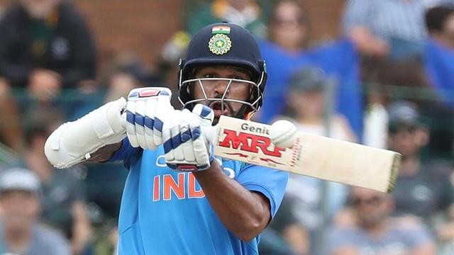 Opener Shikhar Dhawan (34) started well but was dismissed by Rabada.
