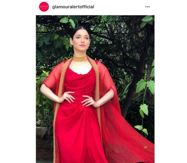 Tamannaah Bhatia Sets Us Some Fashion Goals In This Gorgeous Red Dress!