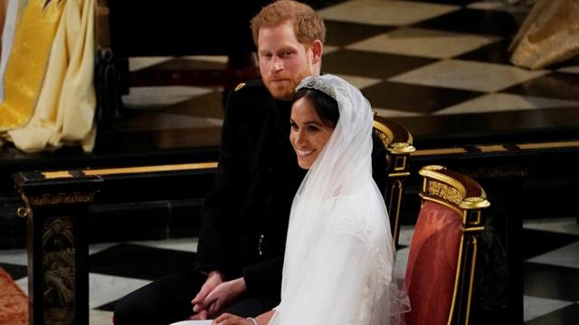 Photos: Prince Harry and Meghan Markle declared husband and wife