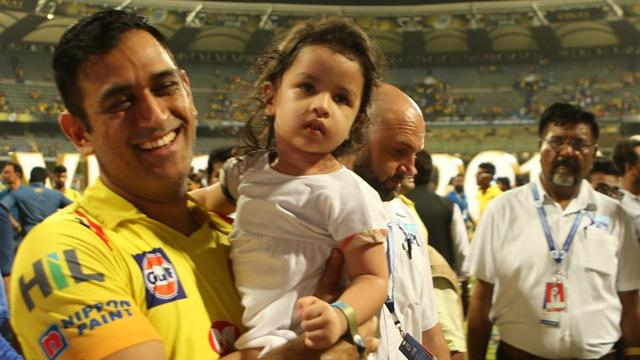 Dhoni and Ziva were among a number of player-daughter pairs seen after the game.