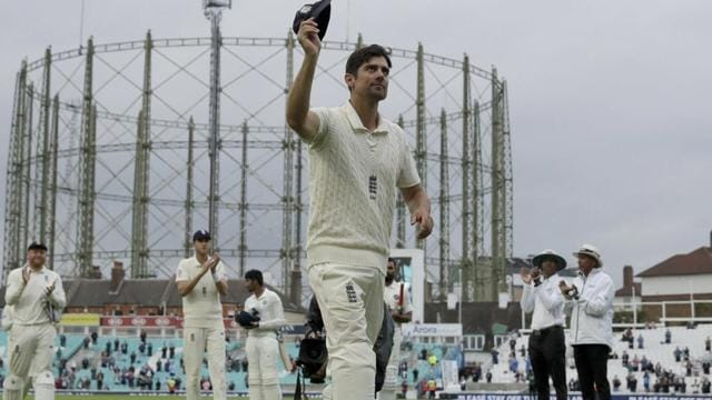 London: England's Alastair Cook, at the end of his last ever match before retiring from Test cricket.