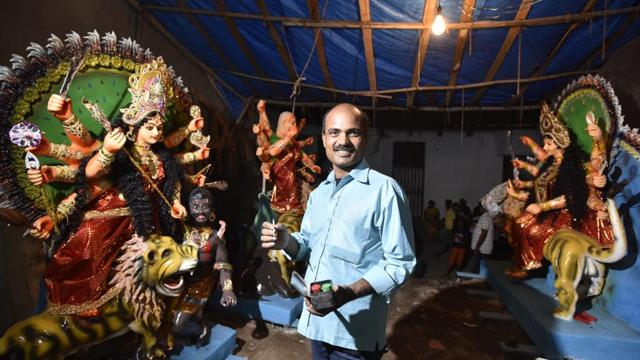 Photos: Meet Sapan Mondol, the only artist in Gurugram making Durga ido...