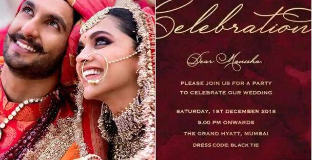Deepika Padukone, Ranveer Singh To Party With Bollywood Stars At Their Reception Tonight.