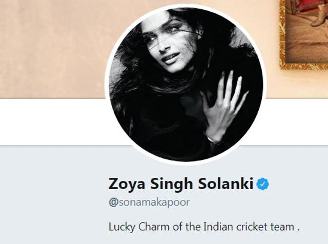 Sonam Kapoor Changes Name On Social Media, Calls Herself Lucky Charm Of Indian Cricket Team.