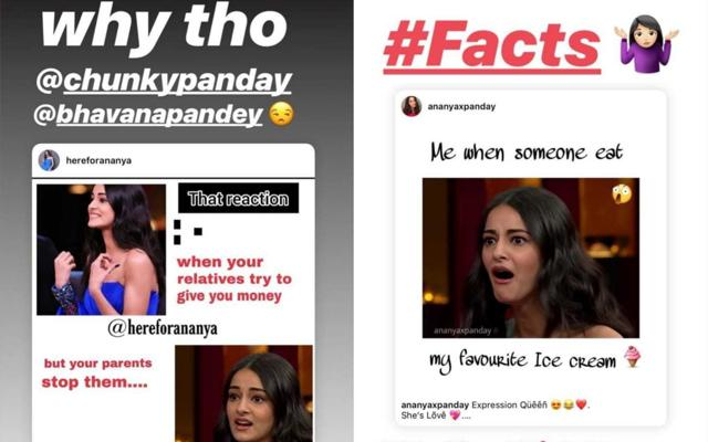 Ananya Panday's Expressions From Koffee With Karan Become Hilarious Memes But The Actress Is The One Having The Last Laugh