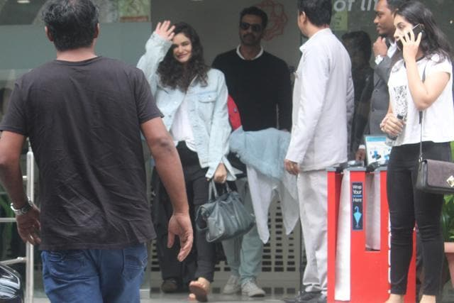 Arjun Rampal Takes Gabriella Demetriades And His Son Home But Not Before A Simba Moment Outside The Hospital