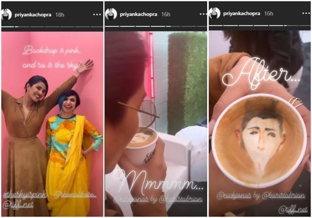 Priyanka Chopra Very Special Cup Of Coffee Has Nick Jonas' Face On It!