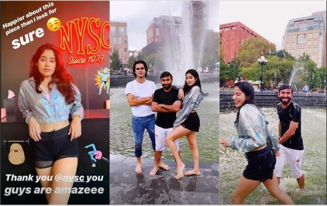 Janhvi Kapoor Is Goofing Around A Fountain In New York, Ishaan Khatter Takes A Dig At Her