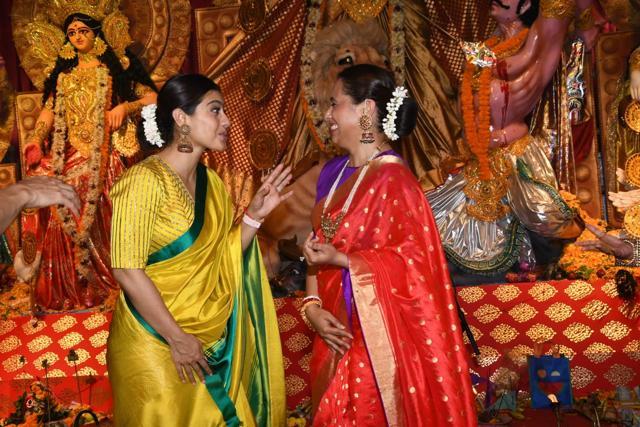 A Kabhi Khushi Kabhie Gham Reunion Takes Place During Pooja As Rani Mukerji, Kajol, Amitabh Bachchan, Jaya Bachchan Meet