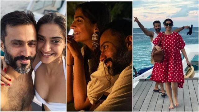 Sonam Kapoor Shares Unseen Pictures Of Her Pool Session With Anand Ahuja From Maldives