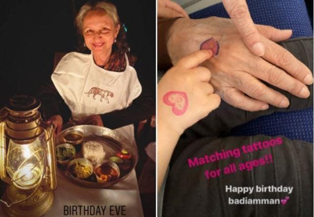 Sharmila Tagore Rings In Her 75th Birthday With Granddaughter Inaaya And Pancakes, Soha Ali Khan Shares Photos