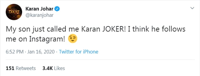 Karan Johar Is Called 'Karan Joker' By Not A Troll But This Person, Find Out His Reaction