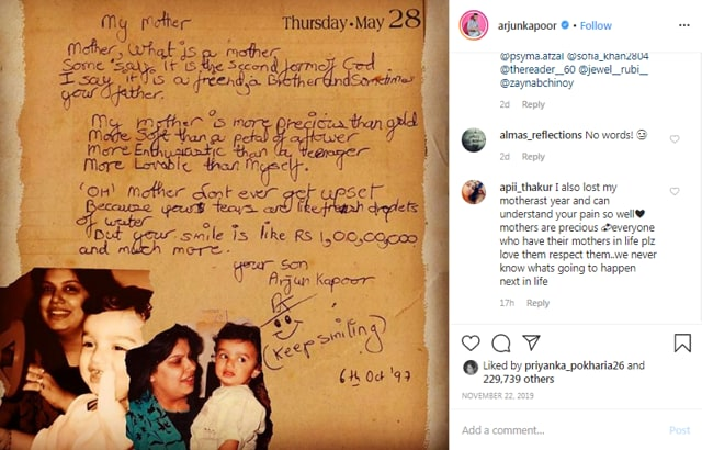 Arjun Kapoor Posts A Picture With His Mother Mona, Captions It 'Same-Same', Ranveer Singh Has A Funny Reaction