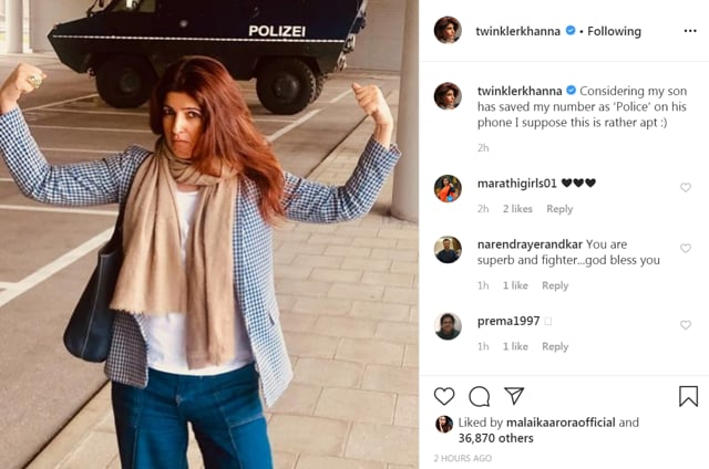 Twinkle Khanna Reveals Her Son Aarav Saved Her Number As Police, Fans Ask Her To Make This The Contact Photo