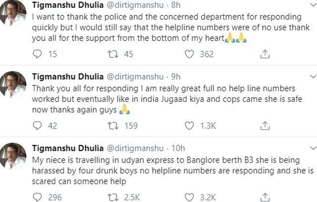 Tigmanshu Dhulia Seeks Help After Niece Allegedly Harassed By 'Four Drunk Boys' In Train, Complains 'No Helpline Nos Are Responding'