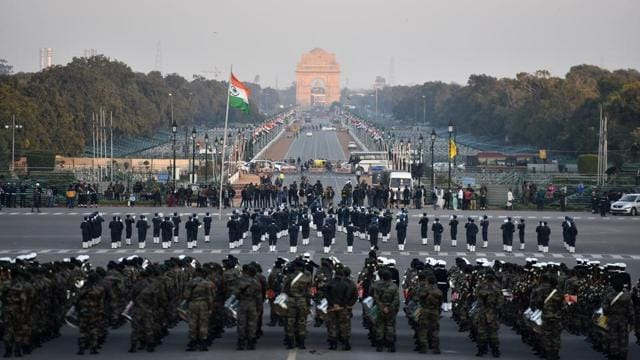 Beating Retreat marks a centuries-old military tradition, when the troops ceased fighting, sheathed their arms and withdrew from the battlefield, returning to the camps at sunset at the sounding of the Retreat.