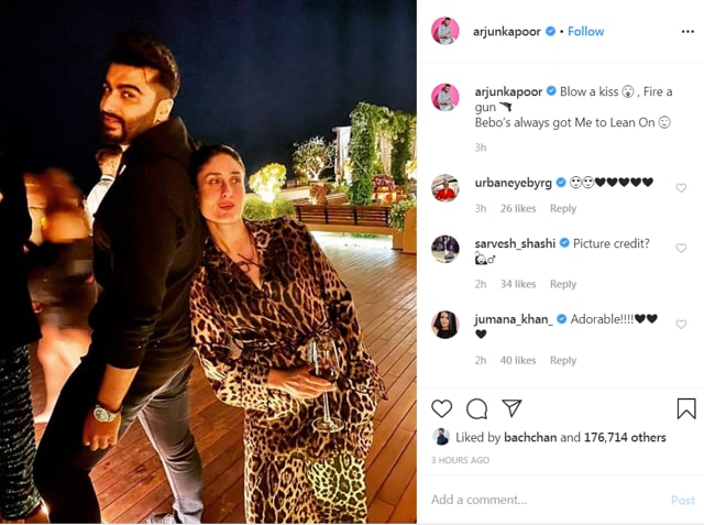 Arjun Kapoor Has Got Kareena Kapoor's Back Quite Literally, Check Out Their Chilled Out Pictures From Amrita Arora's Birthday Bash