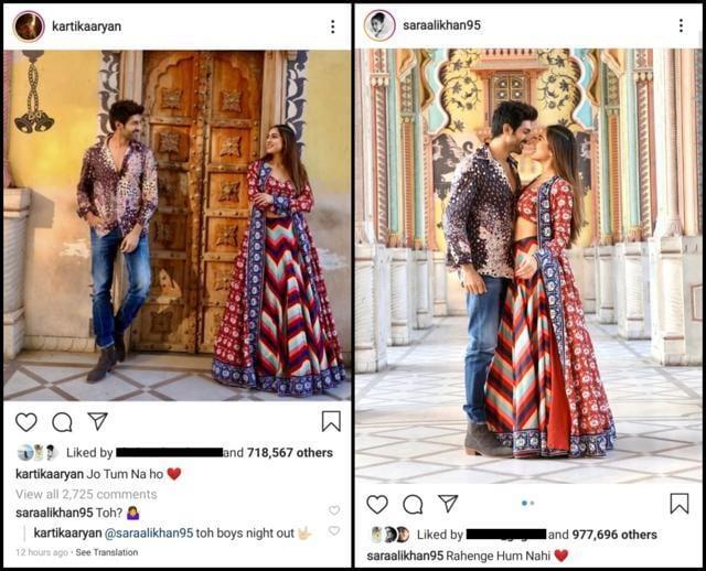 "Sara Ali Khan Demands An Answer To Kartik Aaryan&squot;s ""Jo Tum Na Ho"", He Has The Best Comeback Ever"