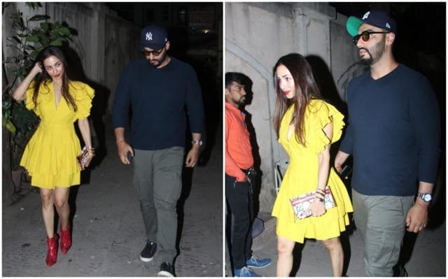 Arjun Kapoor Accompanies Malaika Arora To Her Mother's Birthday Party, Her Son Arhaan And Amrita Arora Also Join