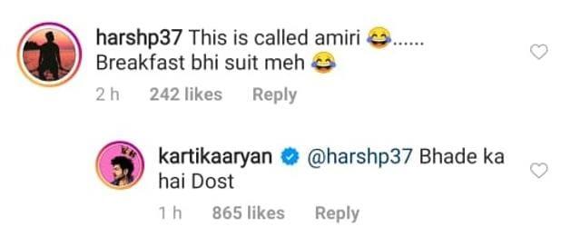 Kartik Aaryan Enjoys 'Sabr Ka Phal' For Breakfast In His 'Bhade Ka Suit', Calls His Caption Oscar Worthy