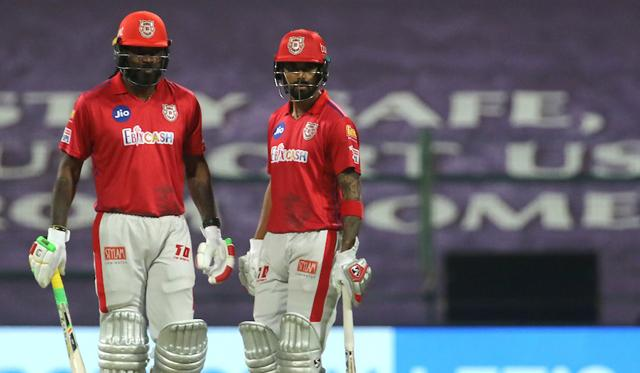 Gayle and captain KL Rahul (46) took the RR bowlers to the cleaners, stitching 120 runs for the second wicket in 13.4 overs to help KXIP post a challenging total.