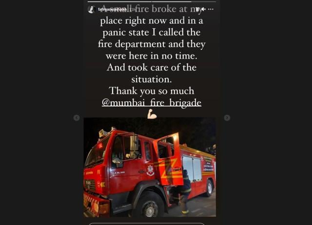 Fatima Sana Shaikh's House Catches Fire; Actor Thanks Fire Department For Their Promptness