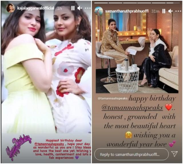 Happy Birthday Tamannaah Bhatia: Kajal Aggarwal, Samantha Akkineni, Rakul Preet Shower Love On Actor's Special Day