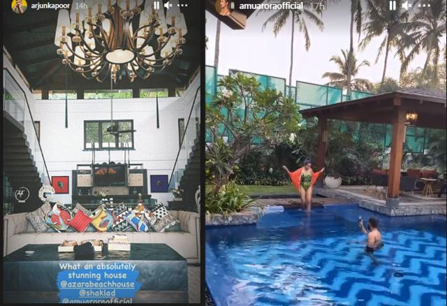 Arjun Kapoor Can't Get Over Girlfriend Malaika's Sister Amrita Arora's Jaw Dropping Home In Goa As They Vacation There