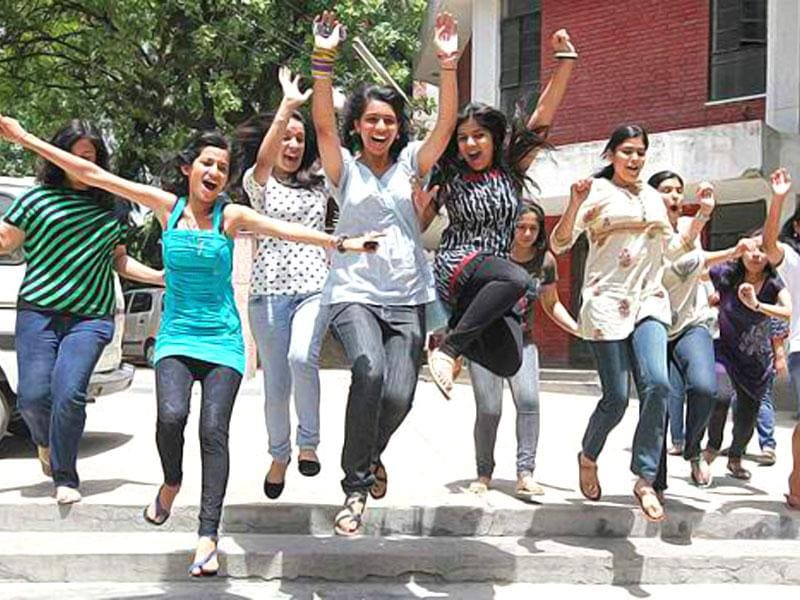 File photo of students celeberating after declaration of their results. (File photo)